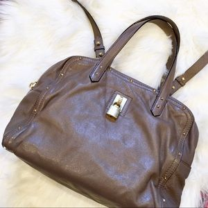 MARC JACOBS Collection Taupe Greenwich Handbag